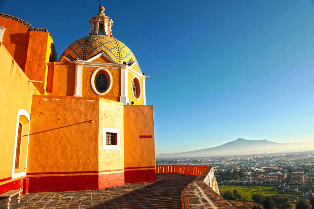 On Top Of a Pyramid Cholula Puebla Mexico Photographs by Bill Bell