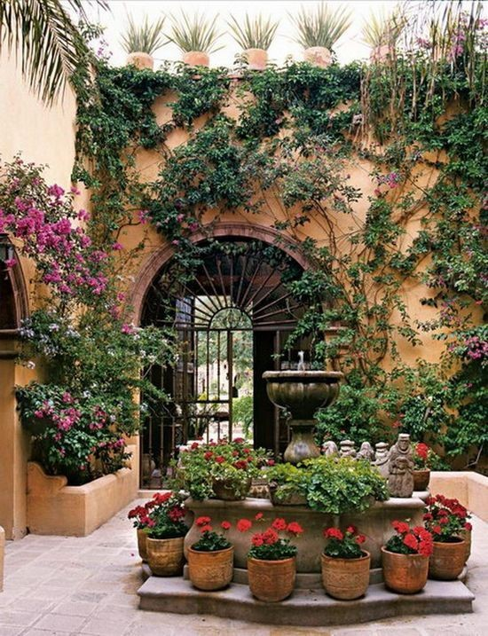 Yard Décor: the Beauty of a Mexican Water Fountain ... on Mexican Backyard Decor id=79488