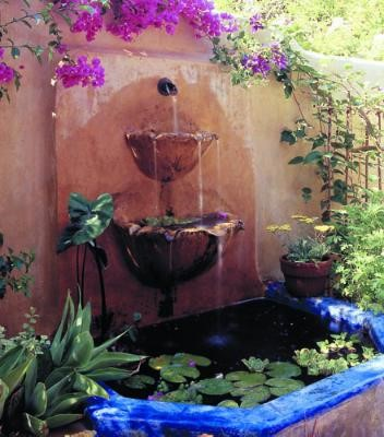 Yard D 233 Cor The Beauty Of A Mexican Water Fountain